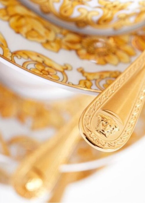 Versace Medusa gilded  - Cuillère à dîner