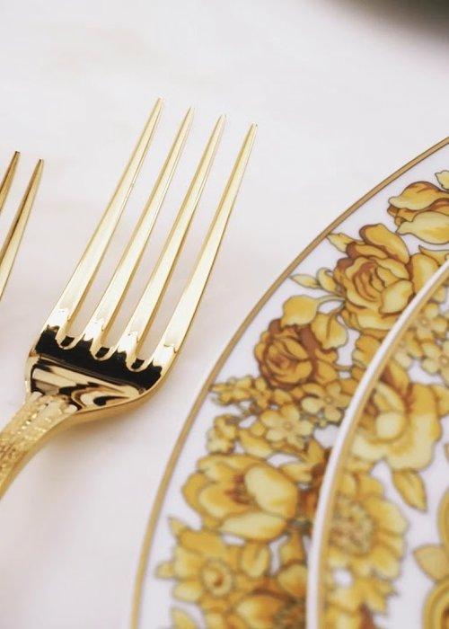 Versace Medusa gilded  - Fourchette à dîner