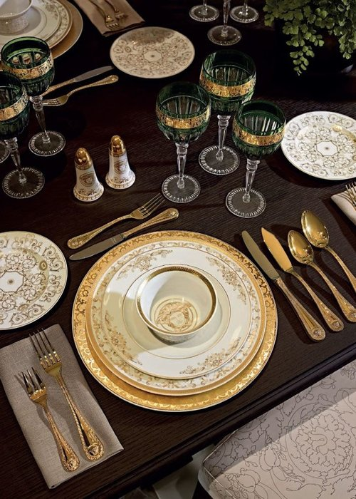 Versace Medusa gilded - Dinner knife