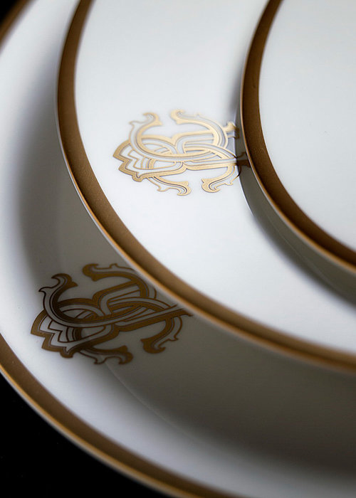 Roberto Cavalli  Silk Gold - Plate 21 cm