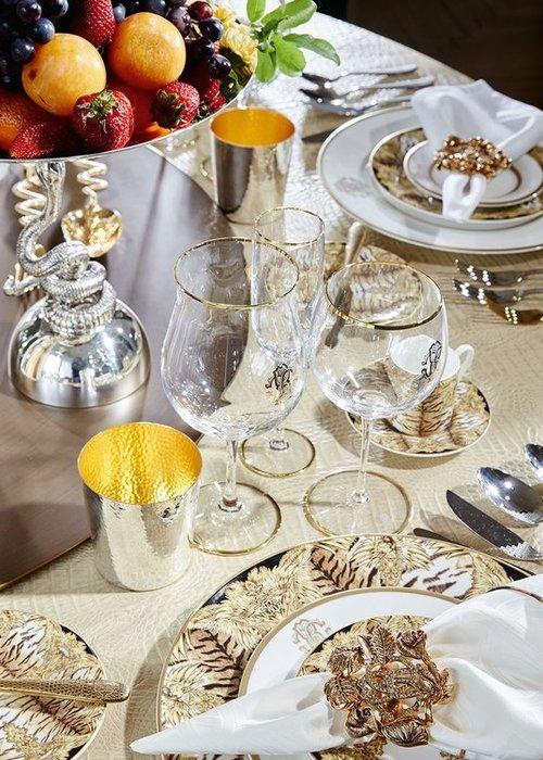 Roberto Cavalli  Monogram Gold -  Wijnglas