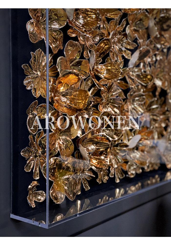 Art - 3d Golden flowers
