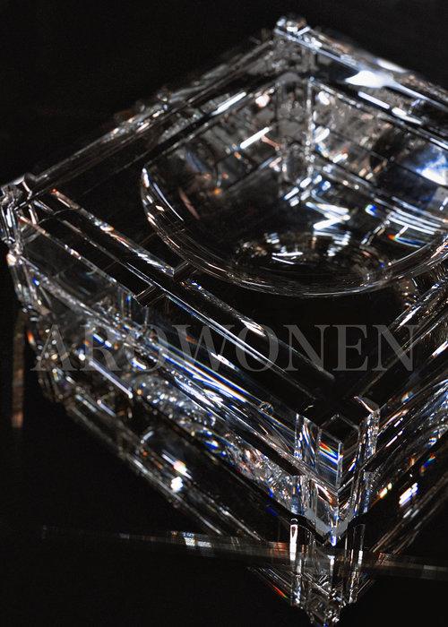 Kristallen Asbak - Vierkant
