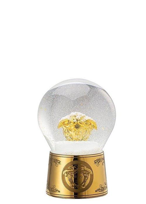 Medusa - Golden snow globe