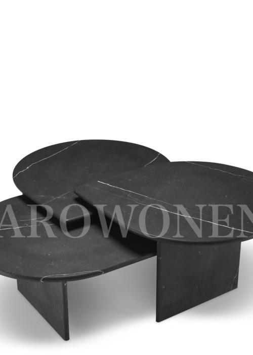 Table basse - Giorgo noir set de 3