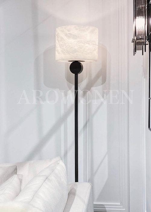 Vloerlamp - Marble atmosphere zwart