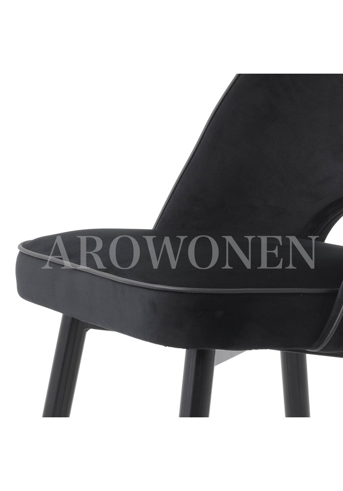 Chaise de salle à manger - Milan  jet black