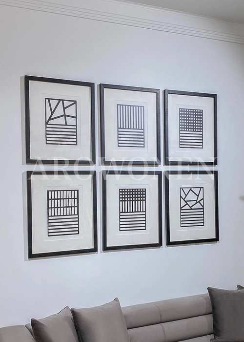 Frame - Prints /  monochrome - set of 6