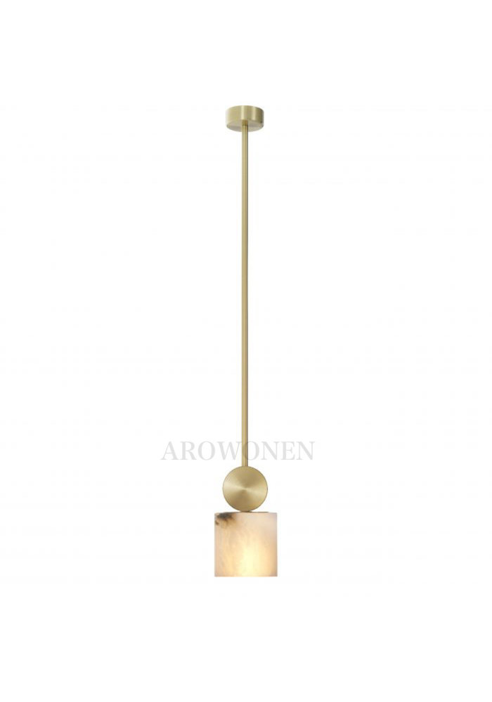 Chandelier - Marble atmosphere square gold