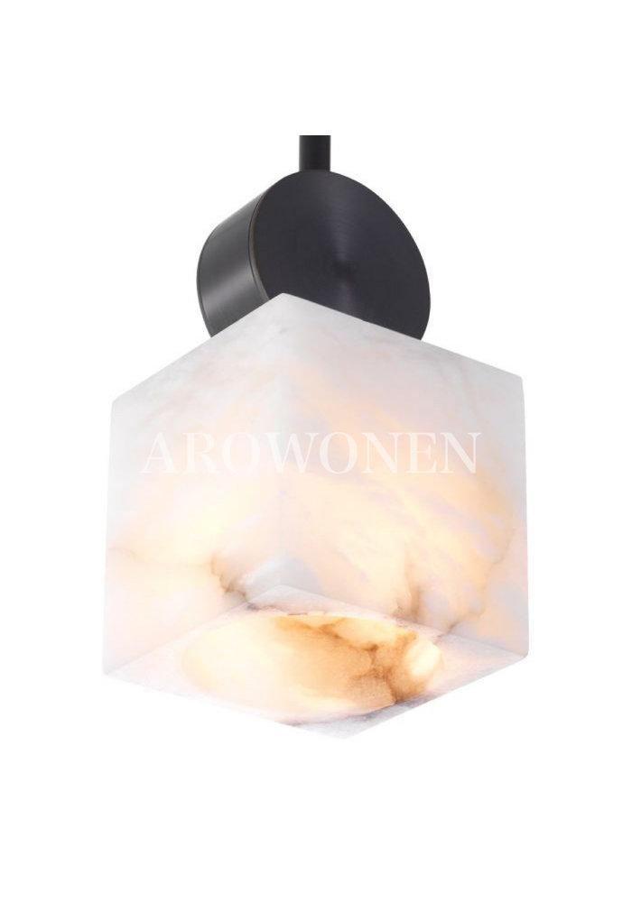 Chandelier - Marble atmosphere zwart square