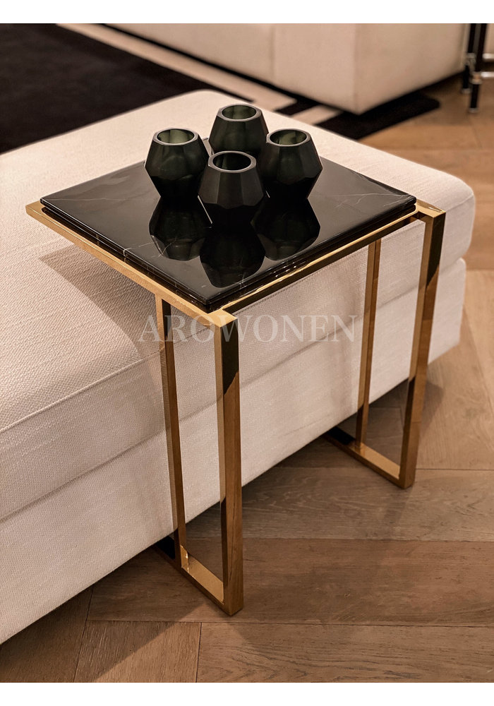 Side Table - Marble Gold