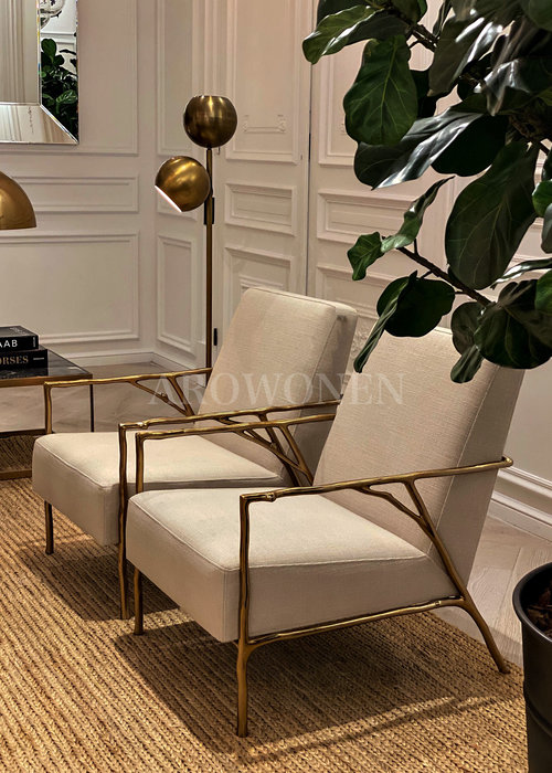 Fauteuil - Claire - gold