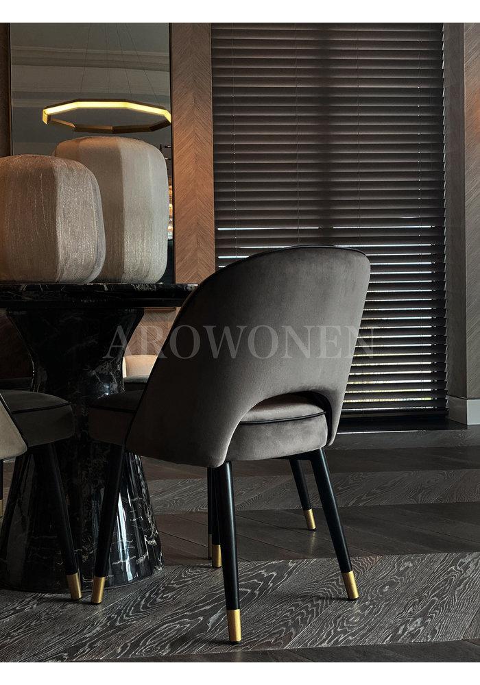 Dining chair - Milan  jet black
