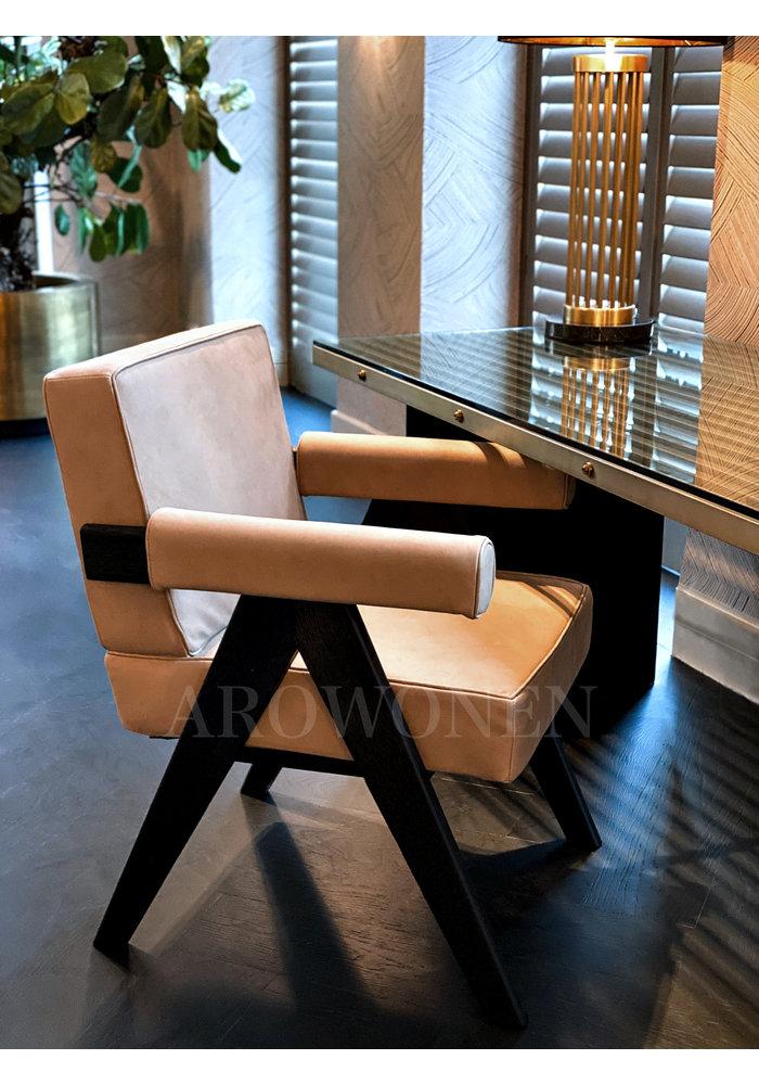 Chaise de salle à manger - Thaddeus latte