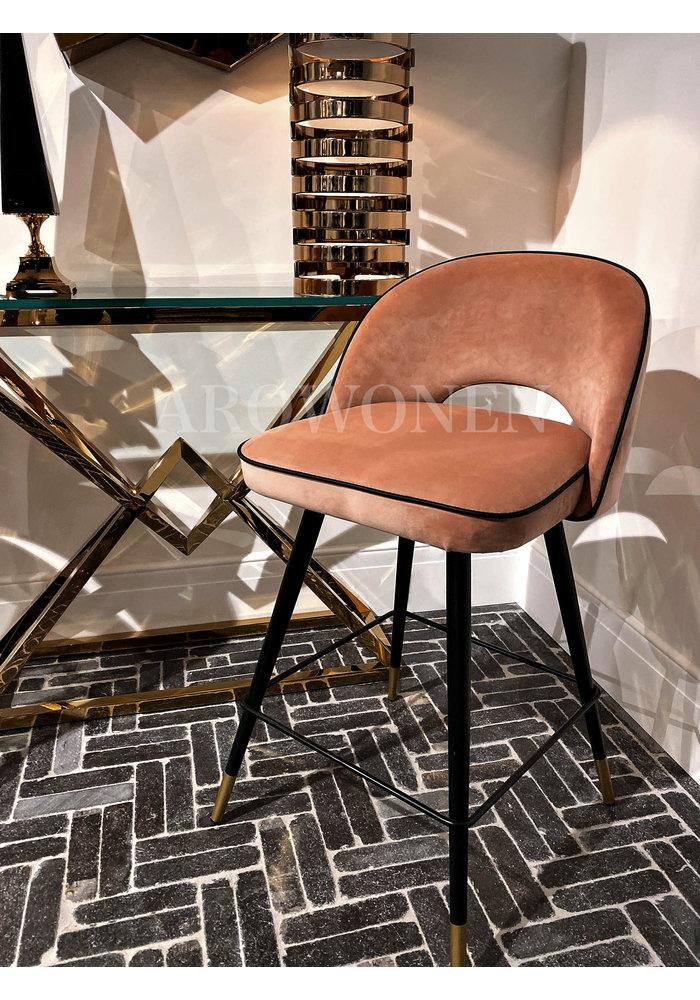 Bar stool - Camila - nude velvet