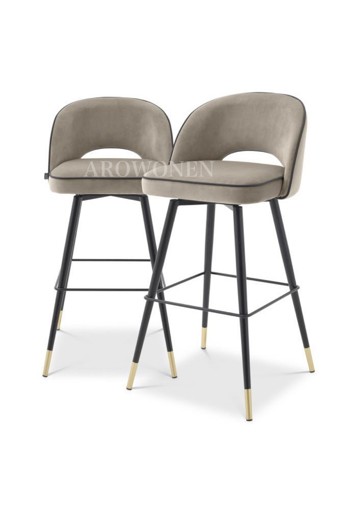Bar stool - Camila - Grey