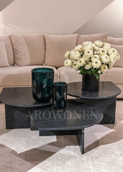 Coffee Table - Giorgo black set of 3