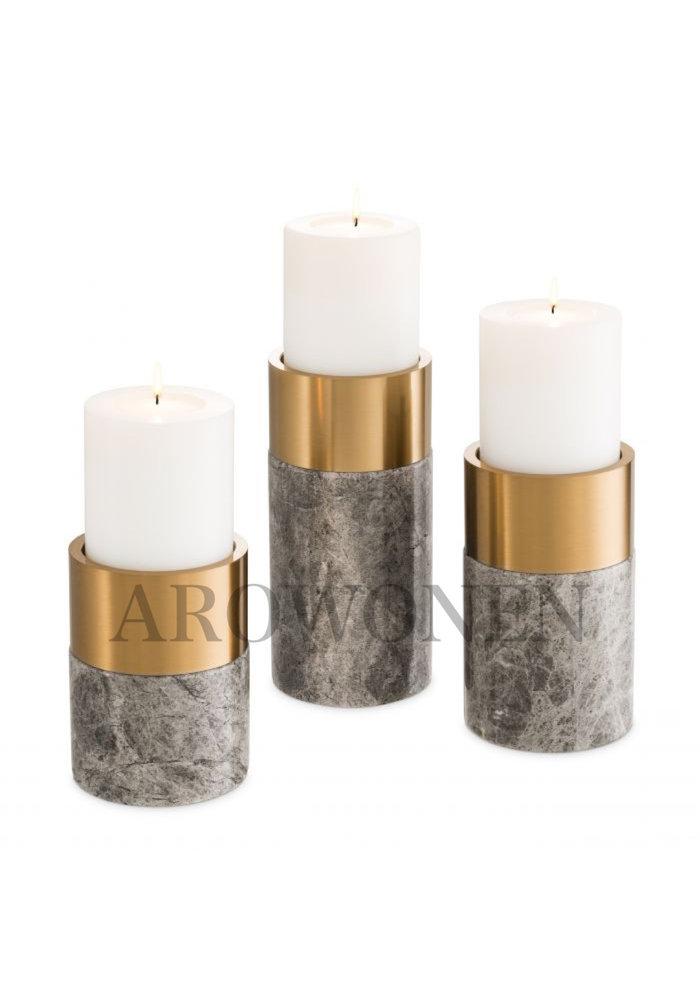 Candle holder - Grayden - Set van 3