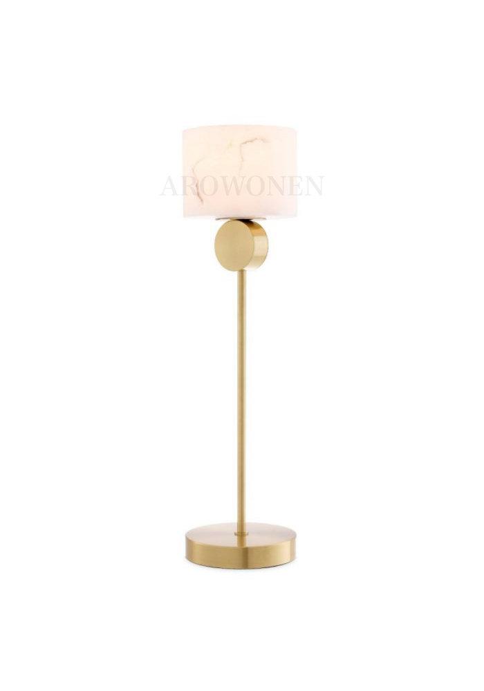 Tafellamp - Marble atmosphere gold