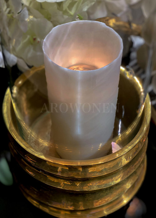 Candle Holder - Reese brass