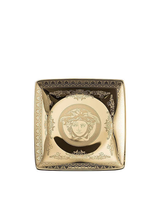 Versace Medusa - Square plate  Gold