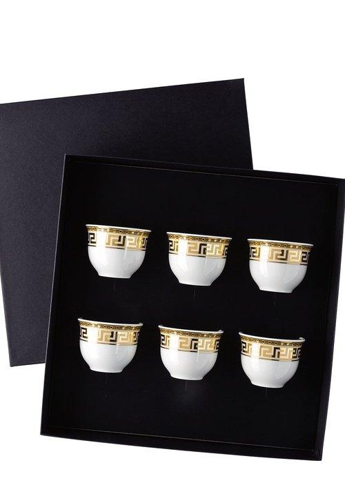Versace Prestige Gala - Set van 6 espresso mokken