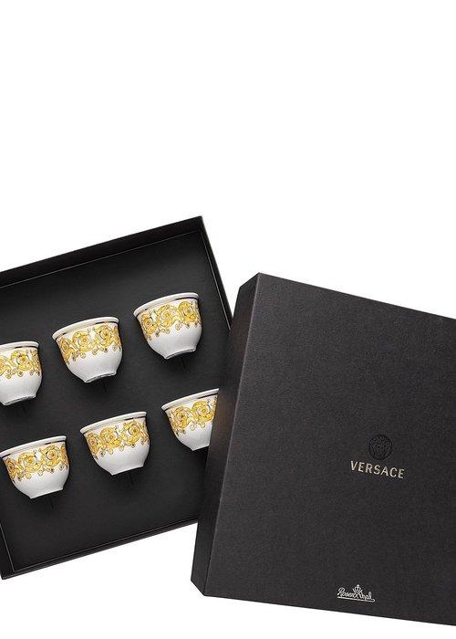 Versace Medusa Rhapsody - Set van 6 espresso mokken