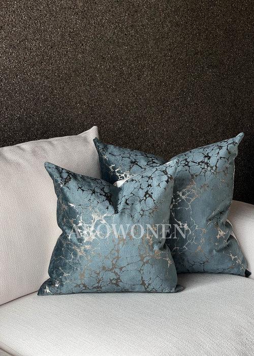 Coussin décoratif - Marble - Blue