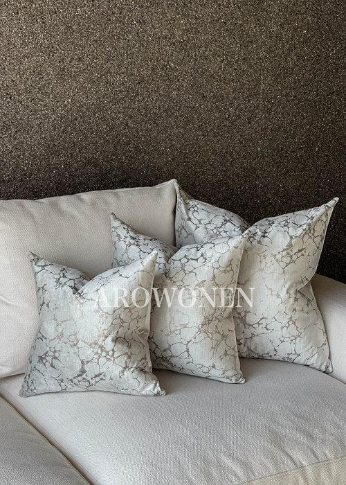 AROWONEN Decorative Cushion - Marble Rose
