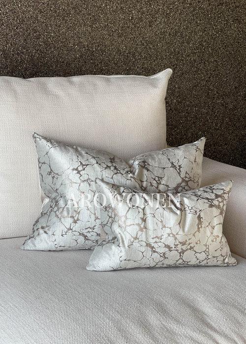 AROWONEN Decorative Cushion - Marble Rose Long