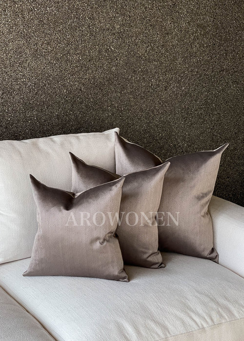AROWONEN Decorative Cushion - Ambrosia Rosy brown