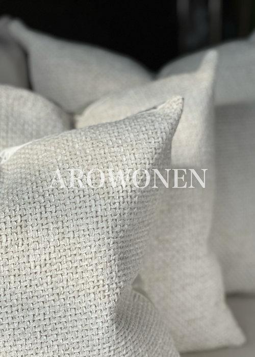 AROWONEN Decorative Cushion -  Ólafur - Ghost white