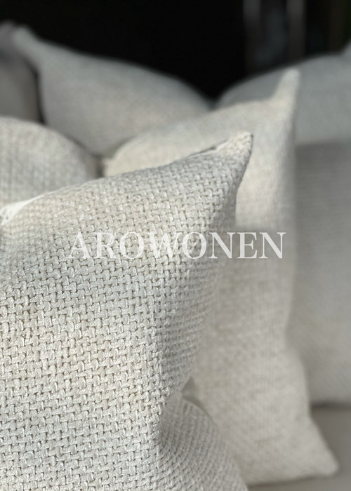 Decorative Cushion -  Ólafur - Ghost white