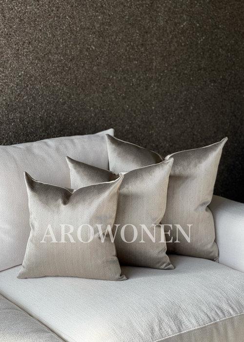 AROWONEN Decorative Cushion -  Ambrosia - Smokey taupe