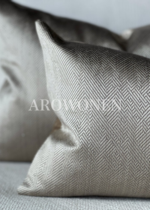 Sierkussen -  Ambrosia - Smokey taupe