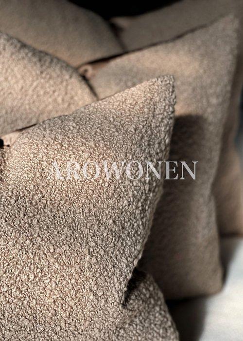 AROWONEN Decorative Cushion -  Woolly - Truffel