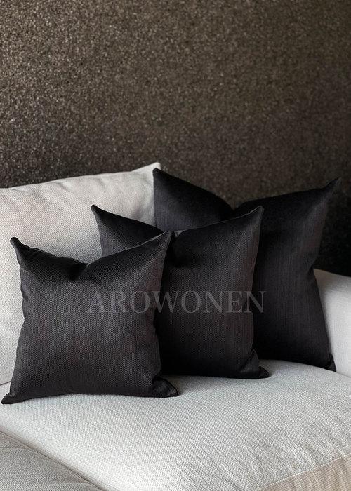 Coussin décoratif - Ambrosia - Black Ink