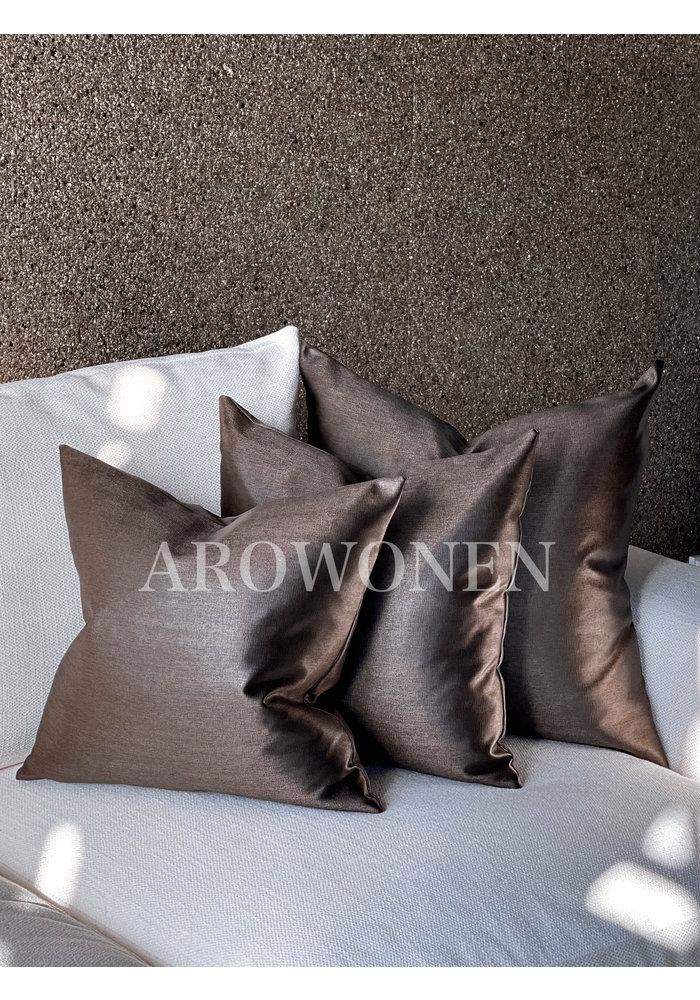 Decorative Cushion - Evelyna - Dark chocolate