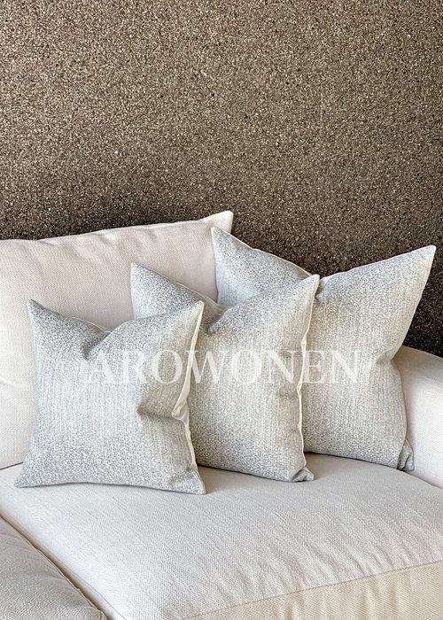AROWONEN Decorative Cushion - Alaric - Silver