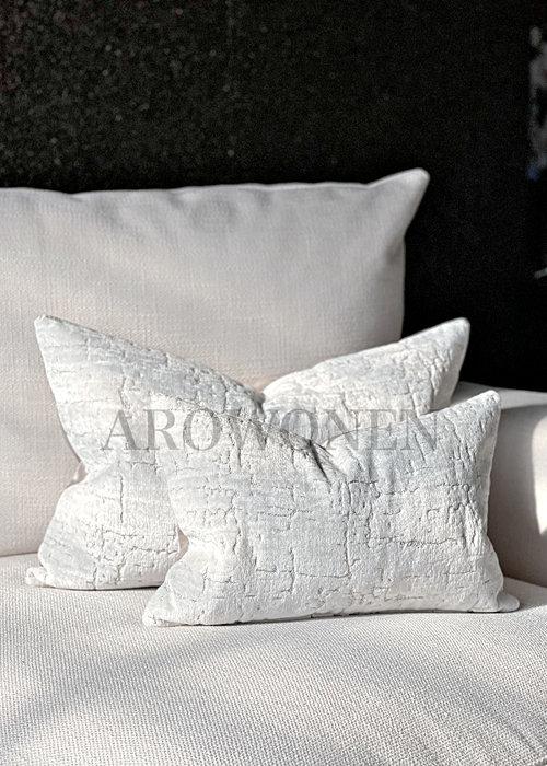 AROWONEN Decorative Cushion - Manhattan - Floral white
