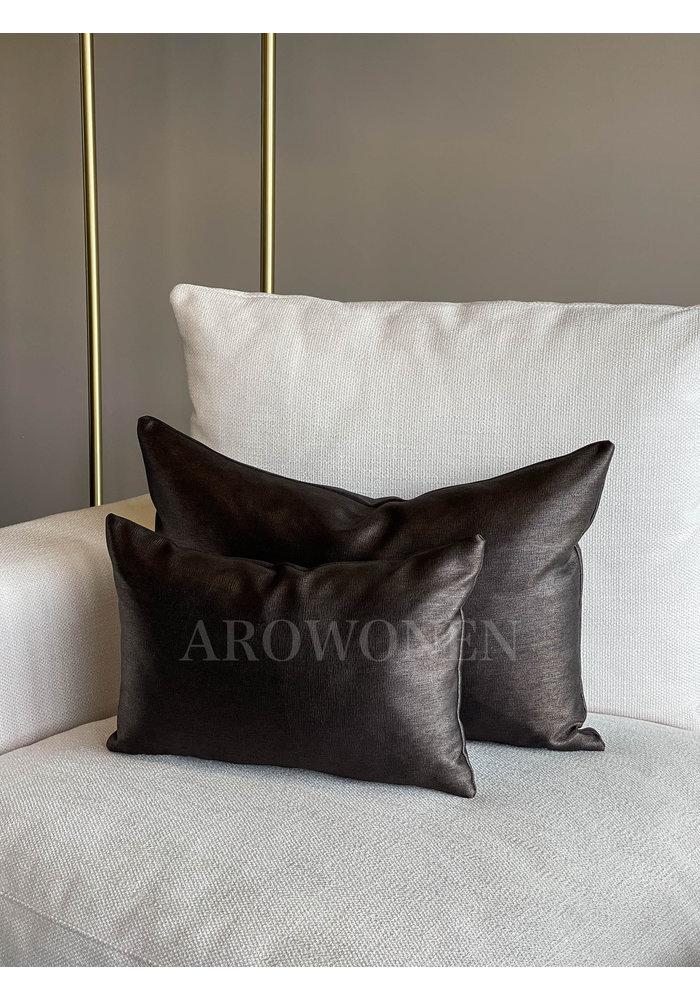 Coussin décoratif - Evelyna - Dark chocolate