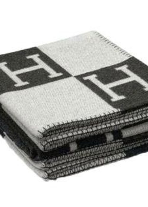 ✩ Hermés Plaid -  Black / Grey
