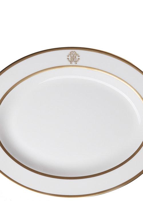 ✩ Roberto Cavalli  Silk Gold - Oval Dish - L