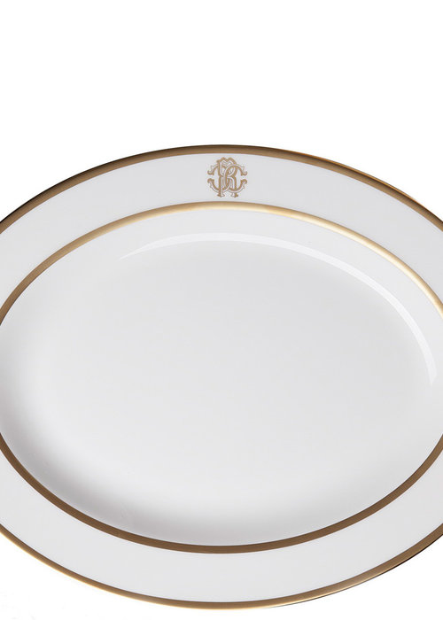 Silk Gold - Oval Dish - M