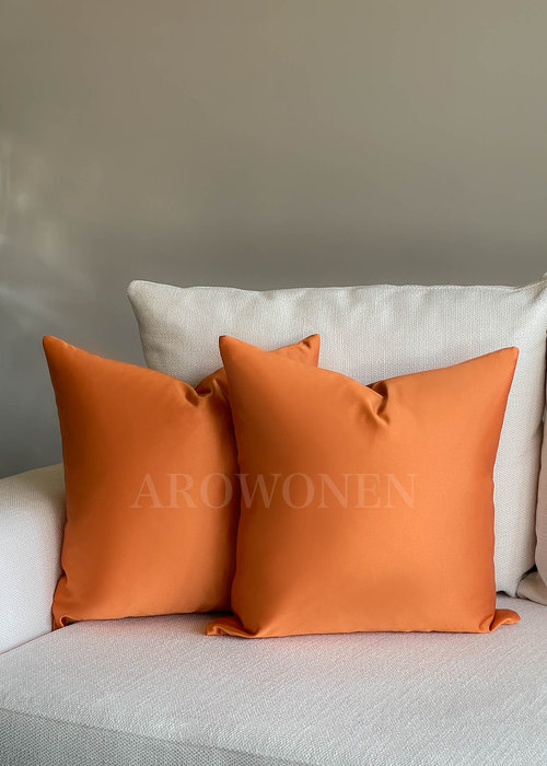 AROWONEN Decorative Cushion - Luciana - Burnt orange