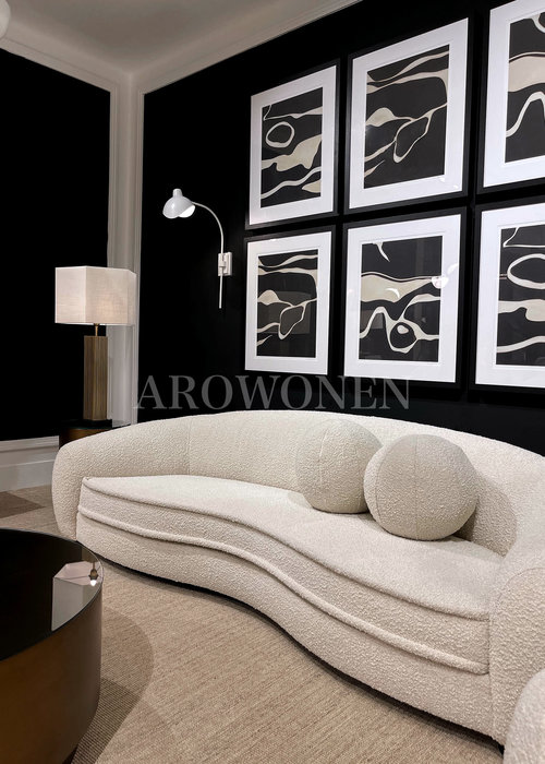 Decorative cushion  - Cookie White - L