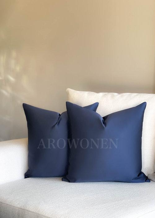 AROWONEN Decorative Cushion - Luciana - Royal blue