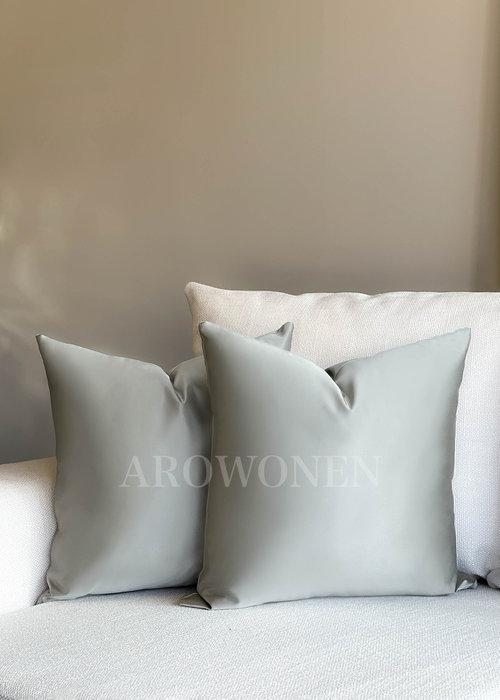AROWONEN Decorative Cushion - Luciana - Silver Grey