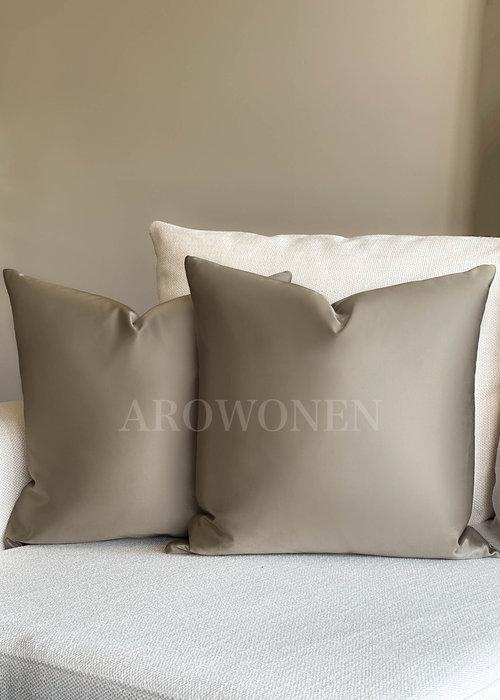AROWONEN Decorative Cushion - Luciana - Taupe