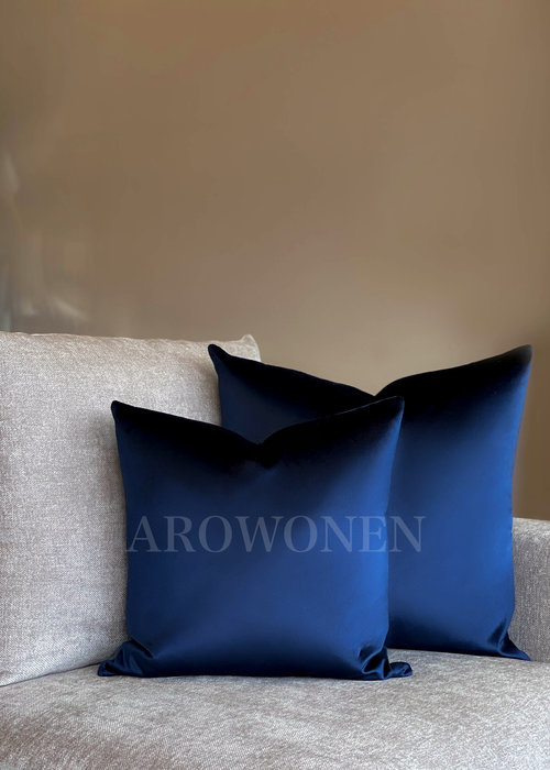 AROWONEN Decorative Cushion - Valora - Royal blue